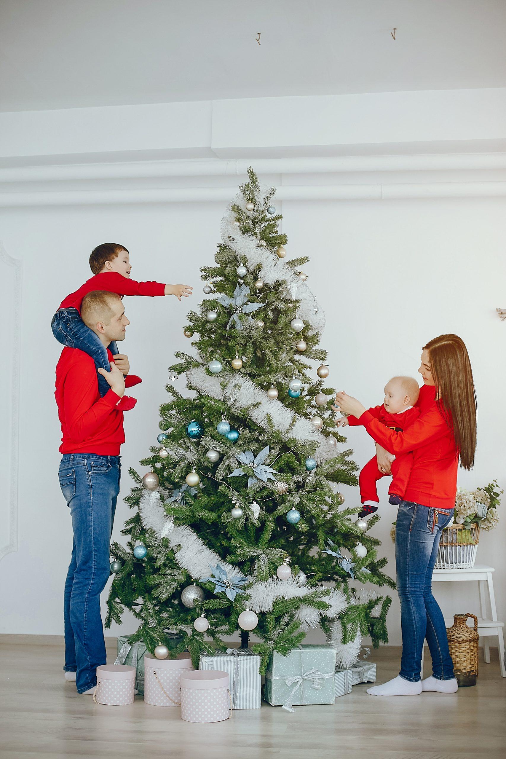 Decoración elegante de navidad